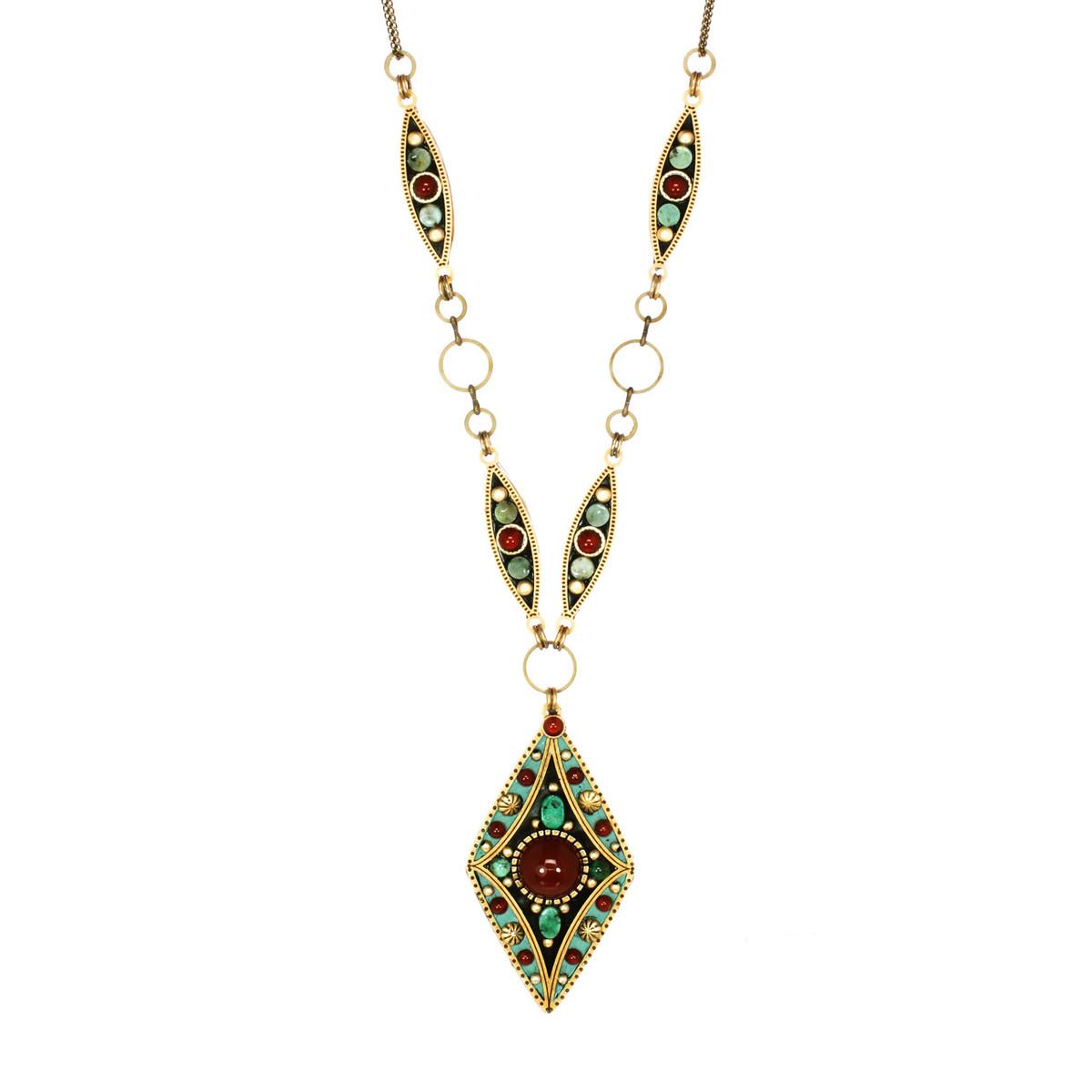 Teal Michal Golan Jewelry Diamond Pendant Necklace