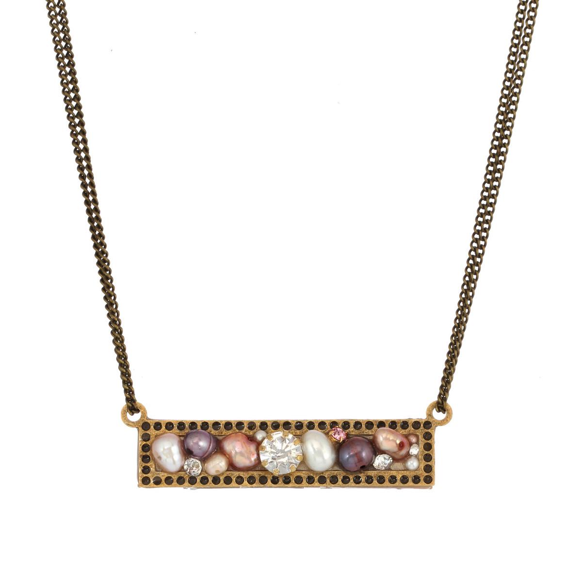 Michal Golan Jewelry Sideways Bar Necklace