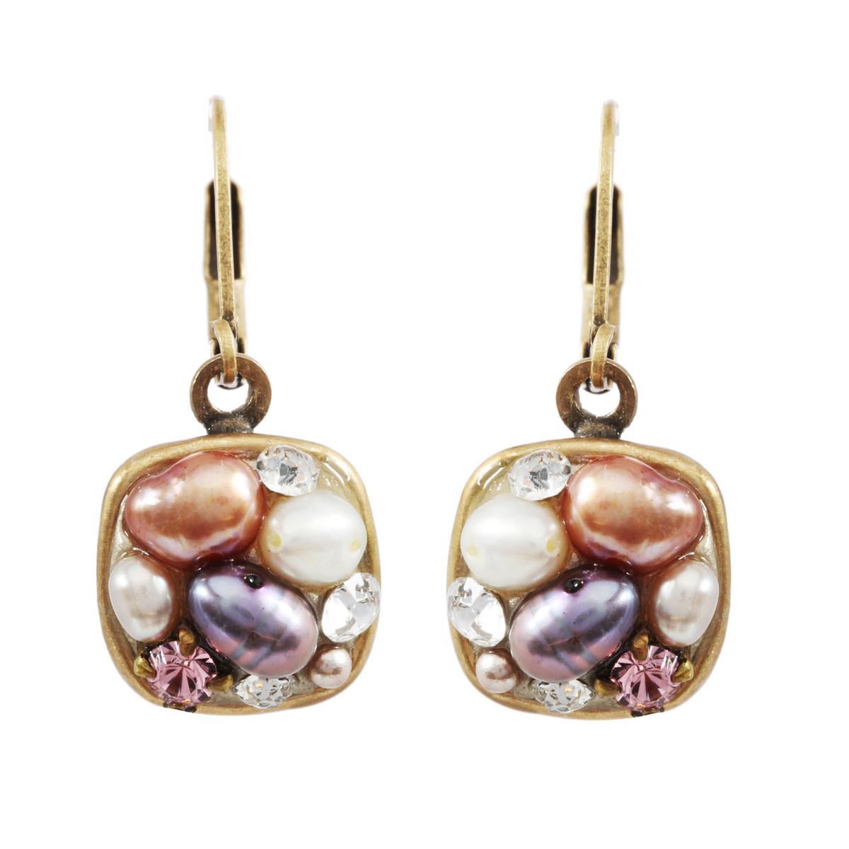 Michal Golan Constellation Pink Earrings