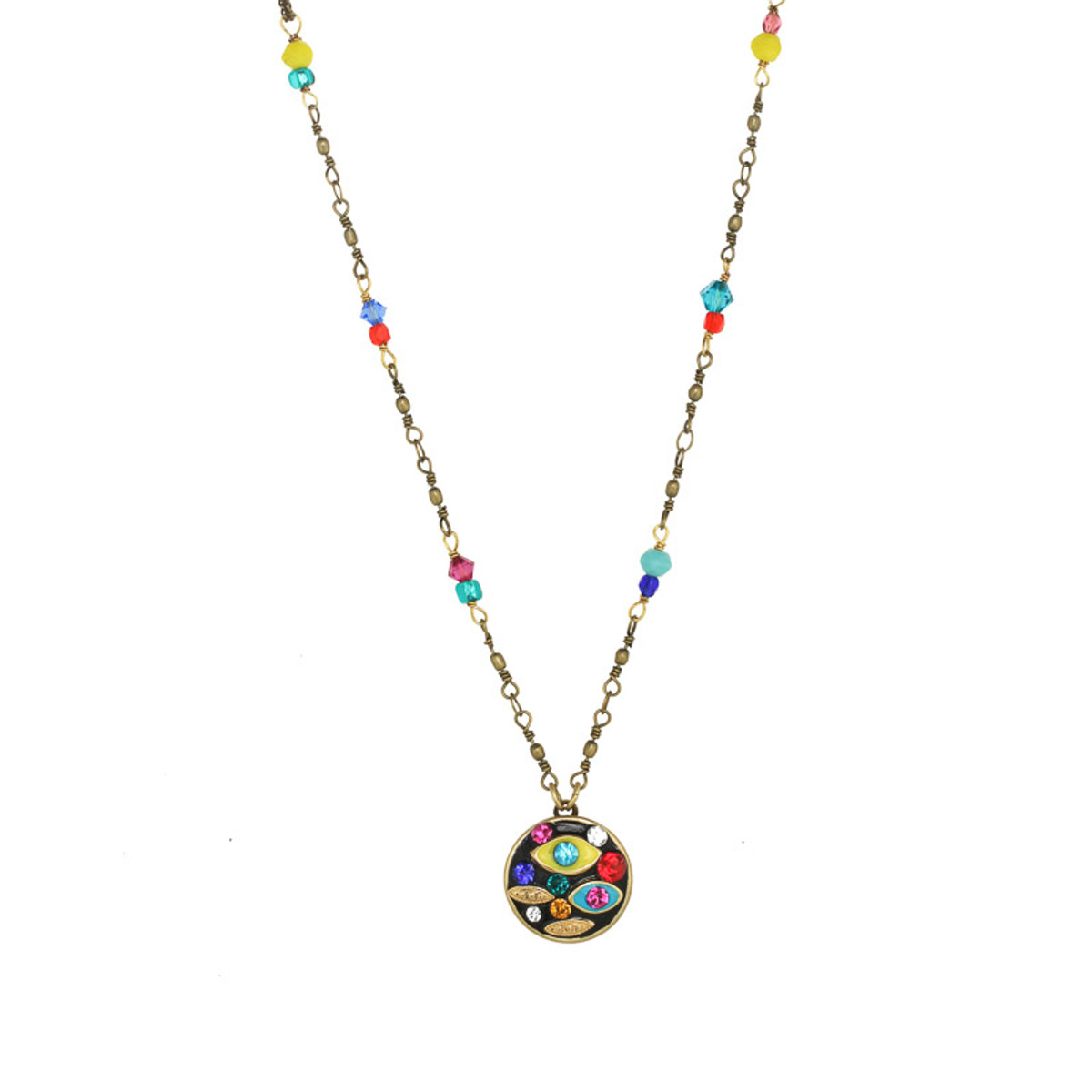 Michal Golan Jewelry Small Round Multi-eye Necklace