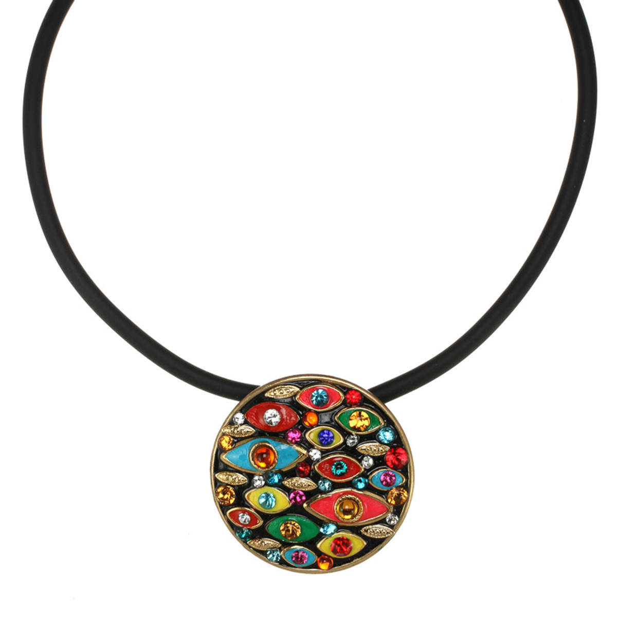 Large Round Multi-eye necklace from Michal Golan Jewelry
