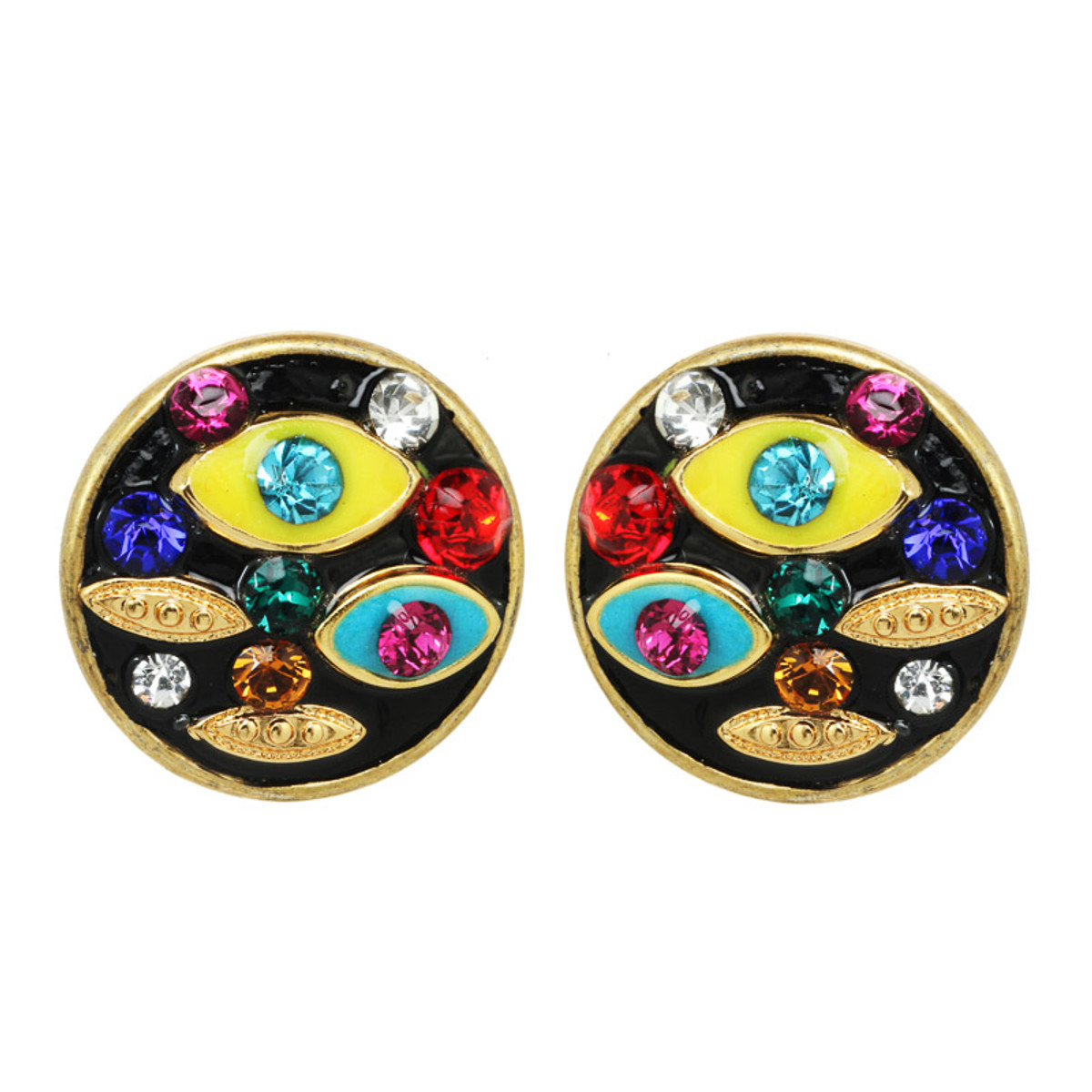 Michal Golan Evil Eye Multicolor Earrings