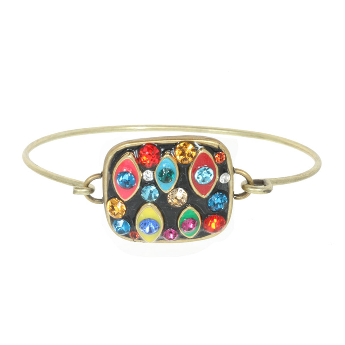Multicolor Michal Golan Jewelry Square Multi-eye Bracelet