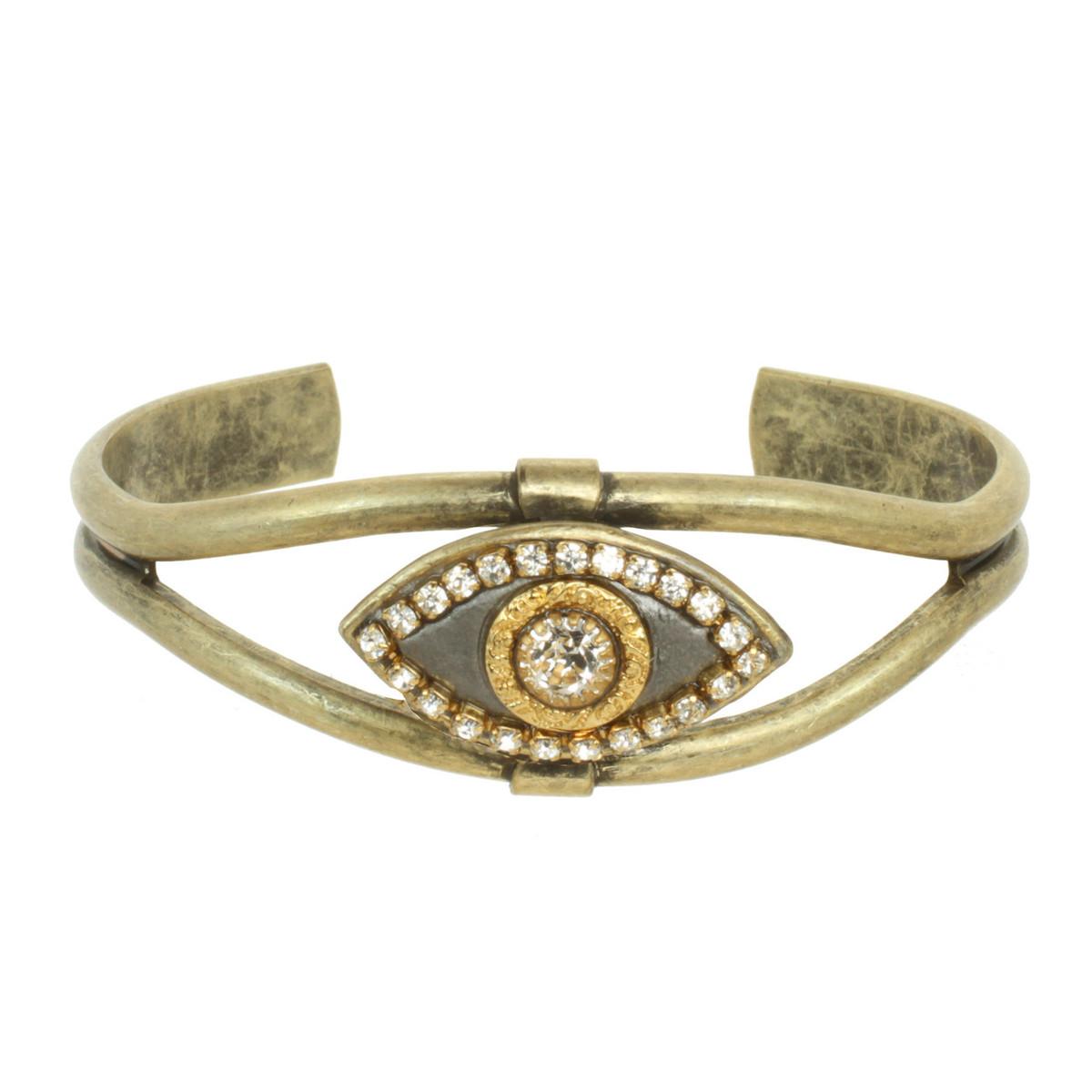 Michal Golan Evil Eye Crystal Center Bracelet
