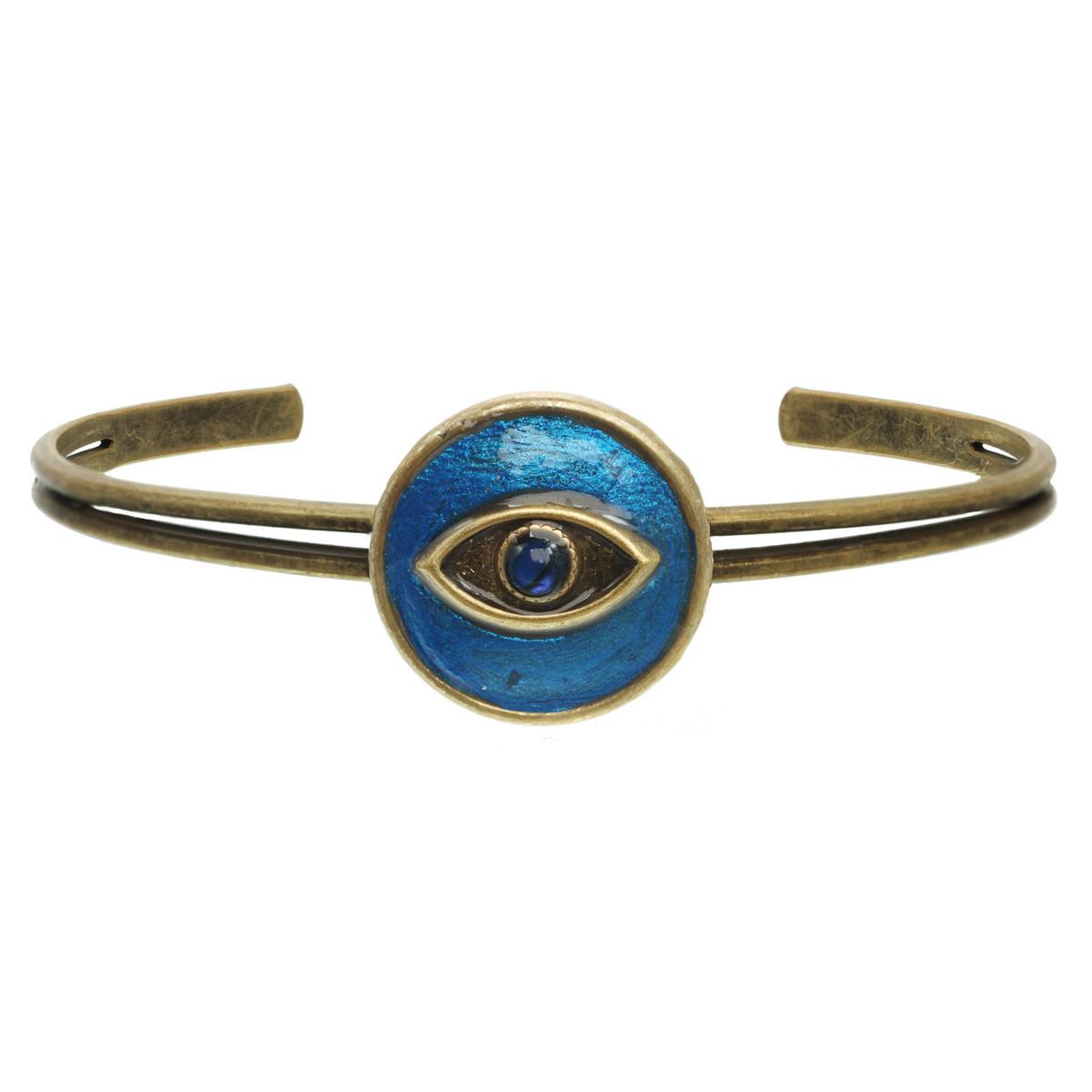 Michal Golan Jewelry Round Evil Eye Cuff Bracelet