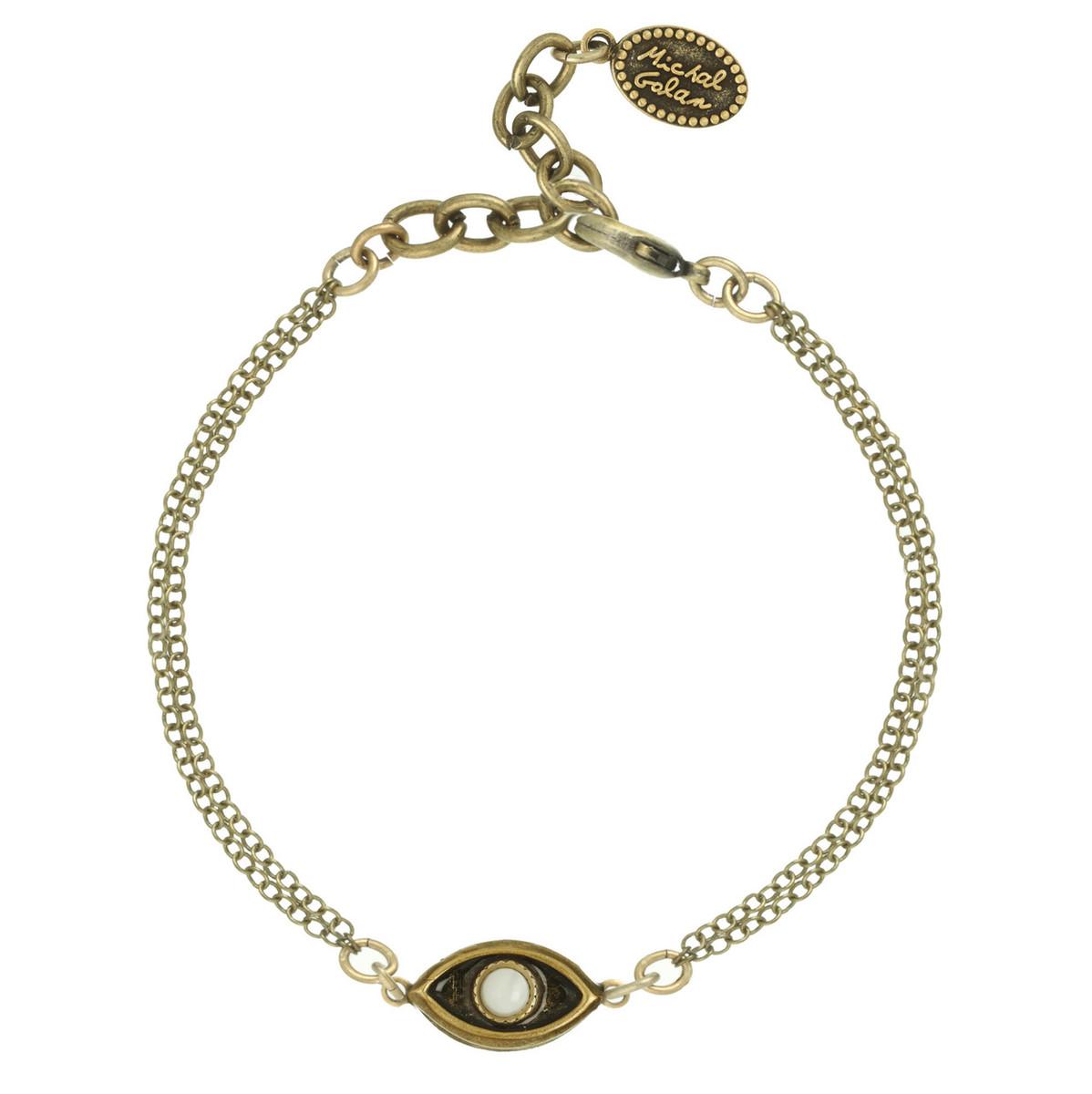 Michal Golan Jewelry Evil Eye with Pearl Center Bracelet
