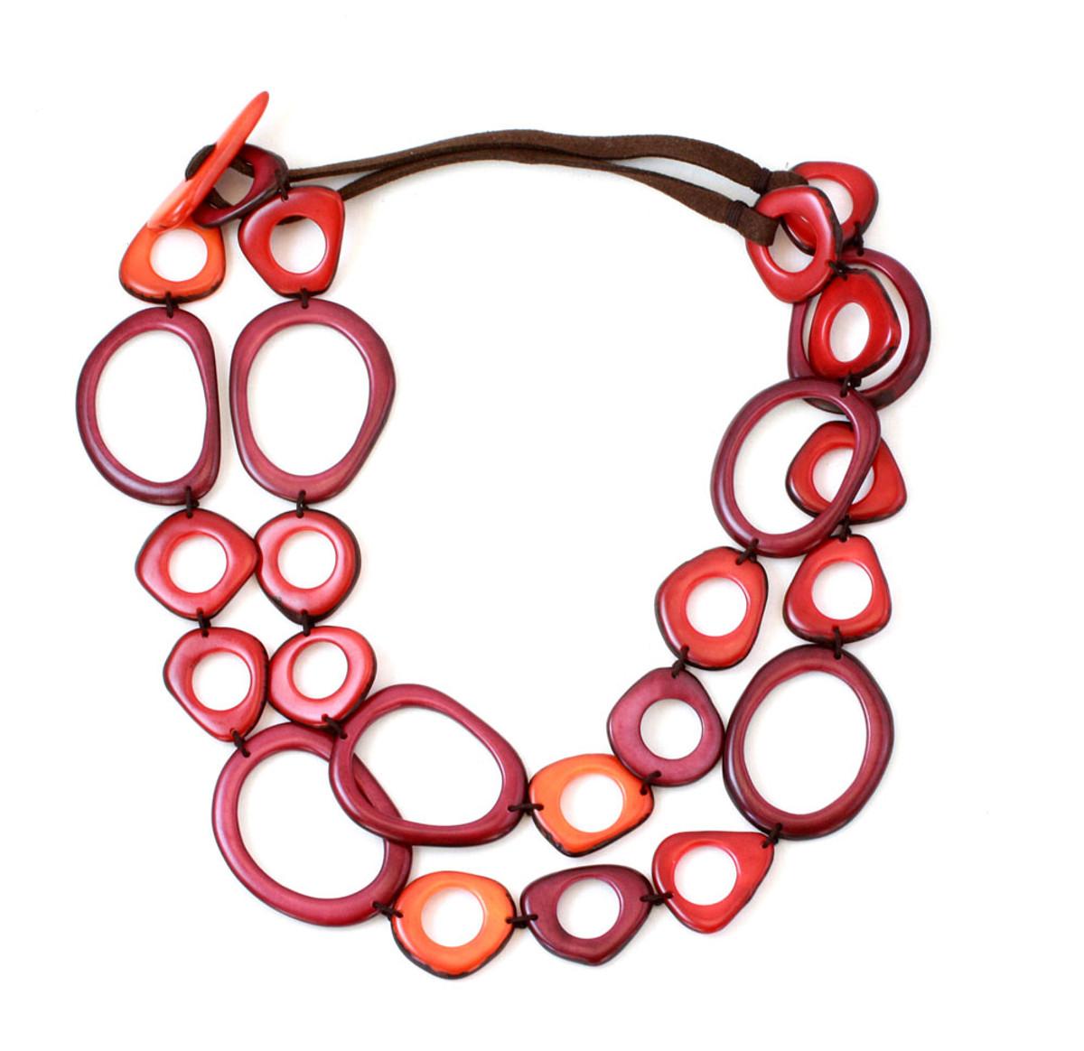 Encanto Red Ada Sunset Necklace
