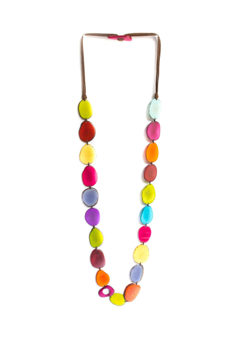 Encanto Multicolor Kaleidoscope Rainbow Necklace