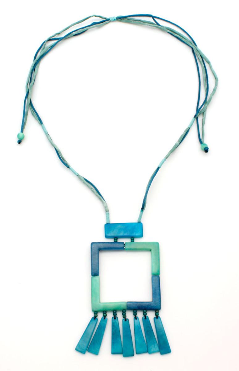 Blue Kauka Blue Sea necklace from Encanto Jewelry