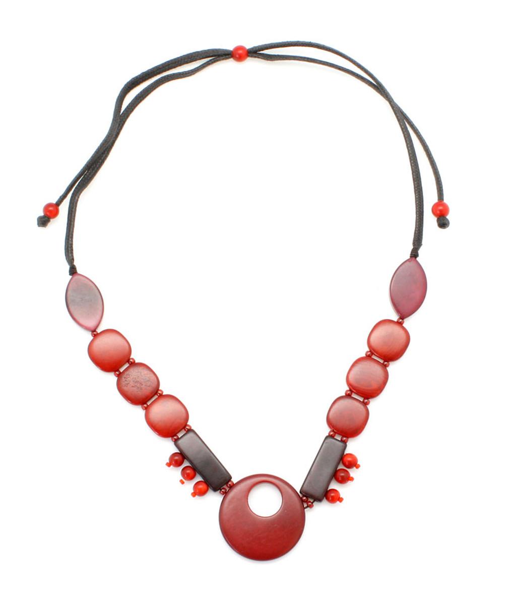 Encanto Semilla Necklace Safia Pomegranate