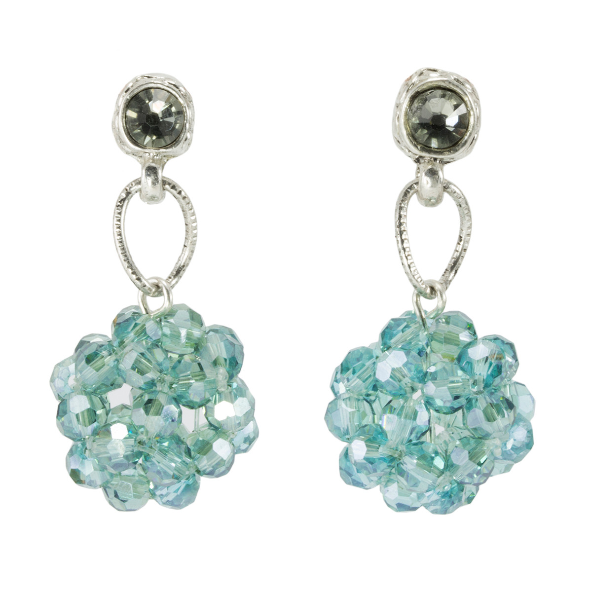 Anat Jewelry Turquoise Crystal Shabby Chic Earrings