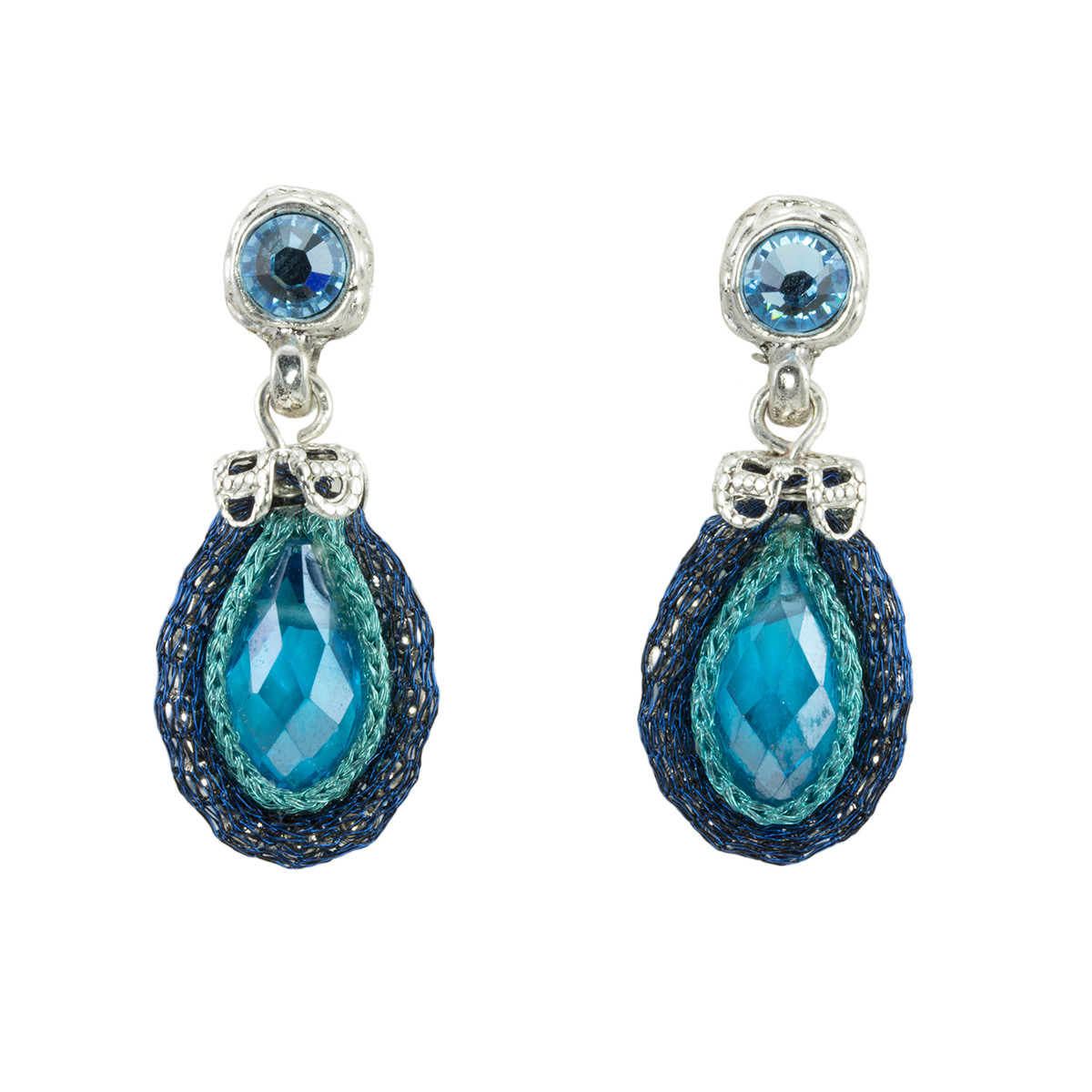 Blue Joy Nouveau Glam earrings from Anat Jewelry
