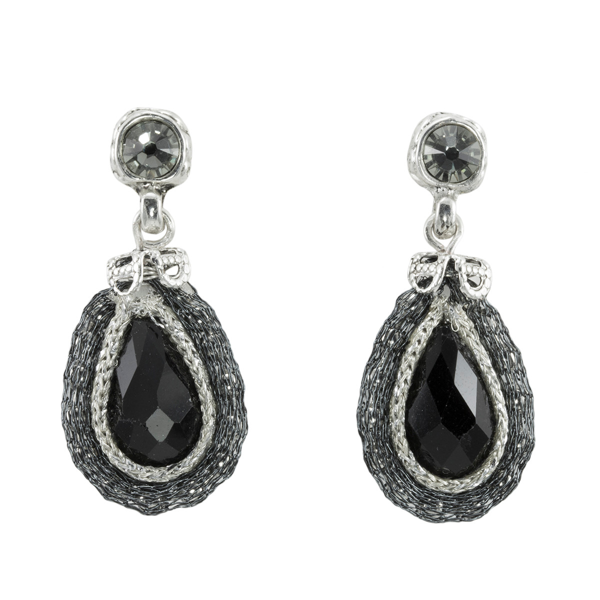 Anat Jewelry Black Joy Nouveau Glam Black Earrings