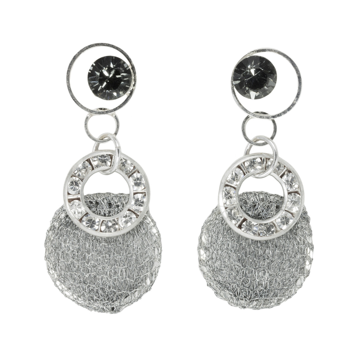 Anat Jewelry Natural Silver Sterling Perfection Earrings