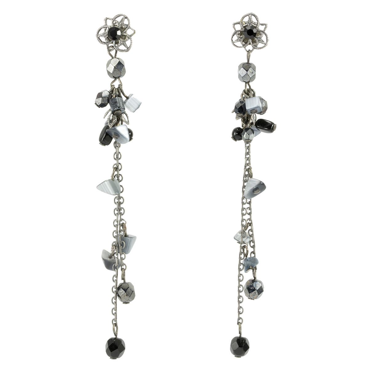 Anat Collection Black  Earrings