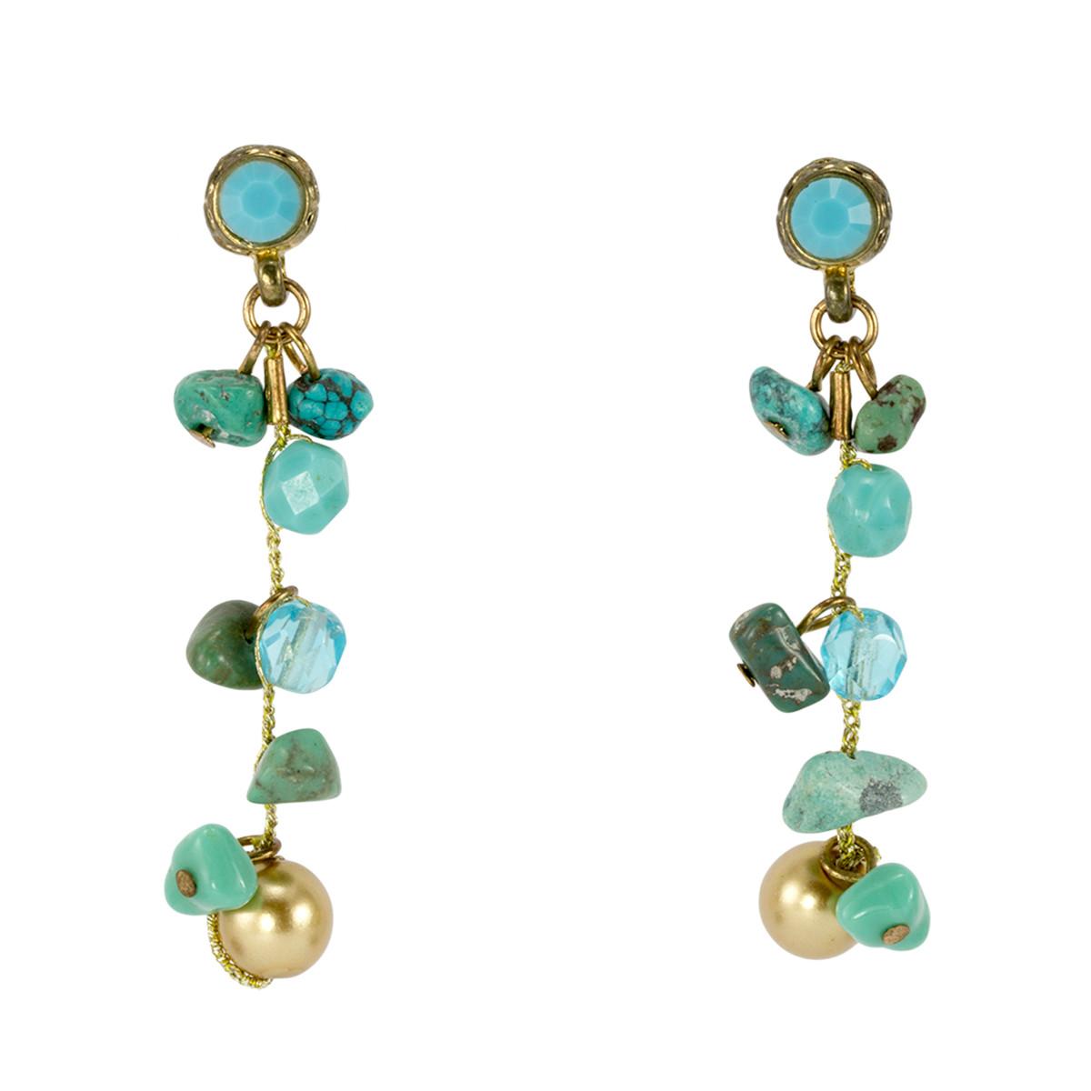 Anat Jewelry Teal   Earrings