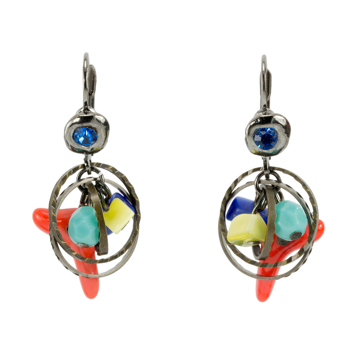 Anat Jewelry Live Life in Color Blue red Earrings