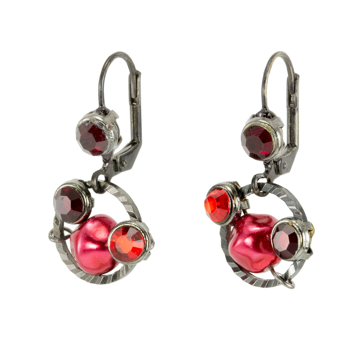 Anat Jewelry Ruby Red  Earrings