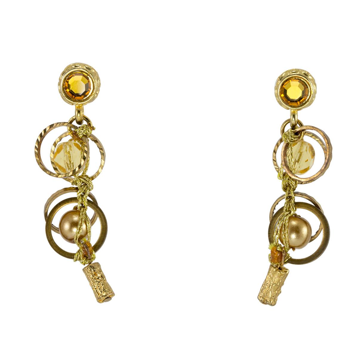 Anat Jewelry Golden Brillance Earrings