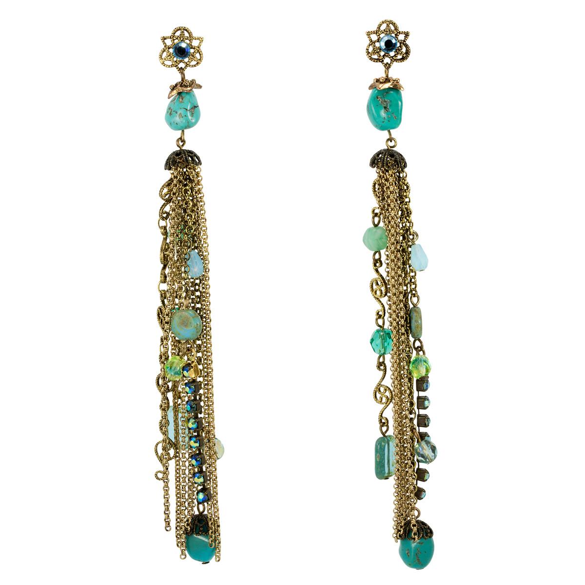 Anat Jewelry Golden Waterfall  Earrings