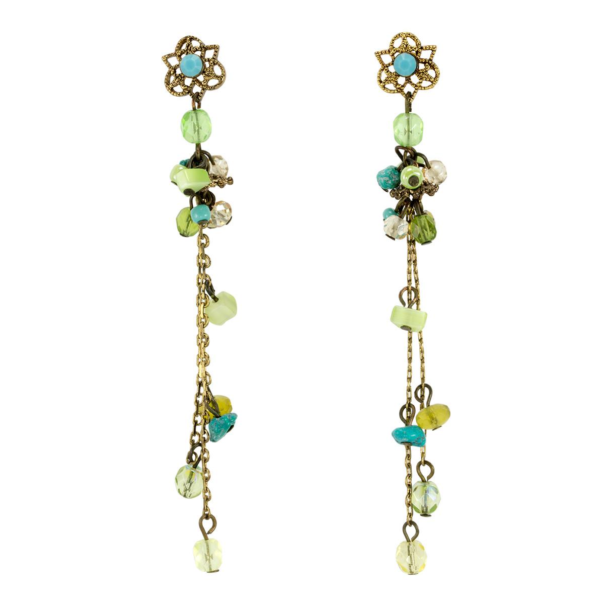 Turq green Anat Jewelry Green Brillance  Earrings