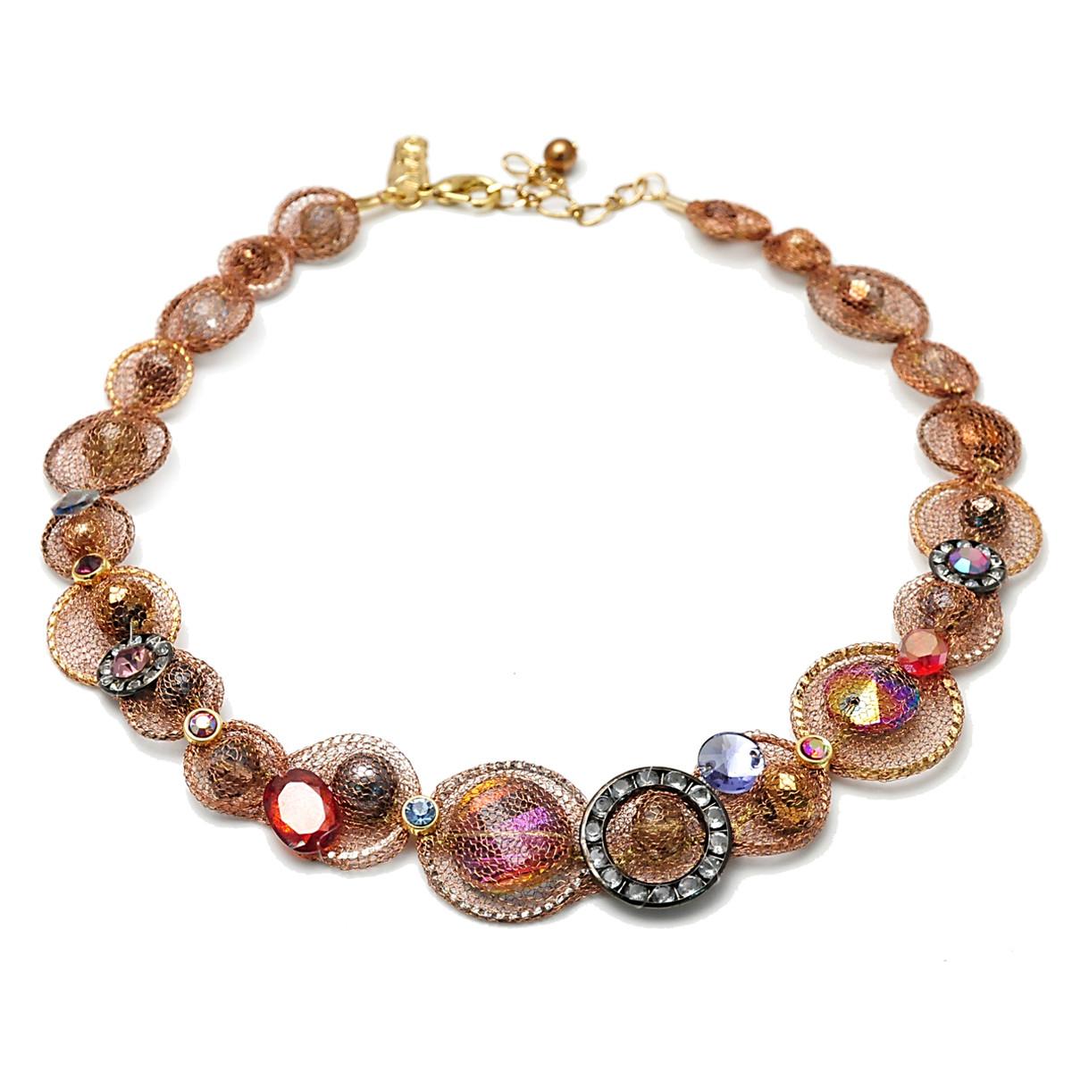Red powder Anat Jewelry Fiesta Fashion Net Necklace