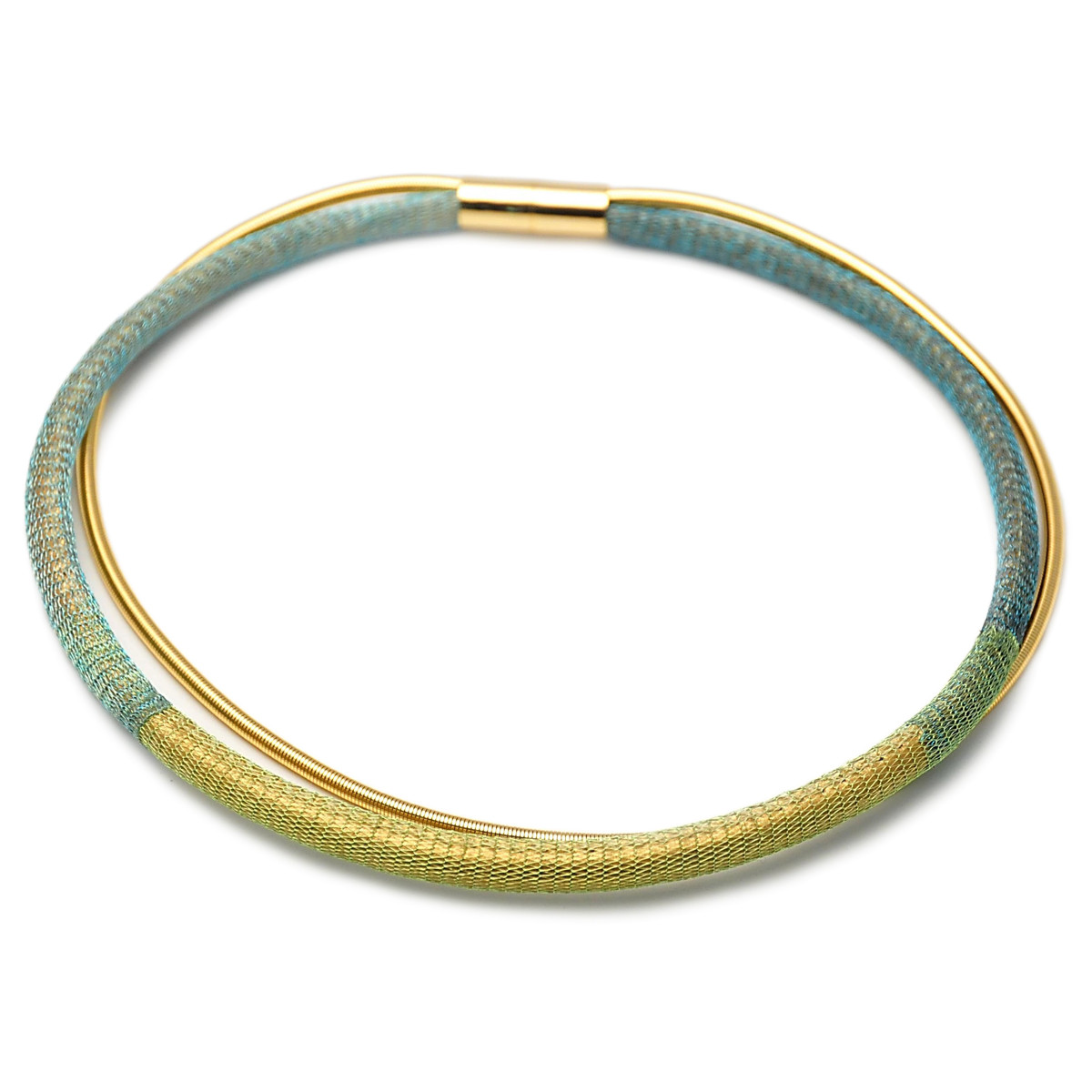 Anat Collection Necklace Bracelet  Green Necklete