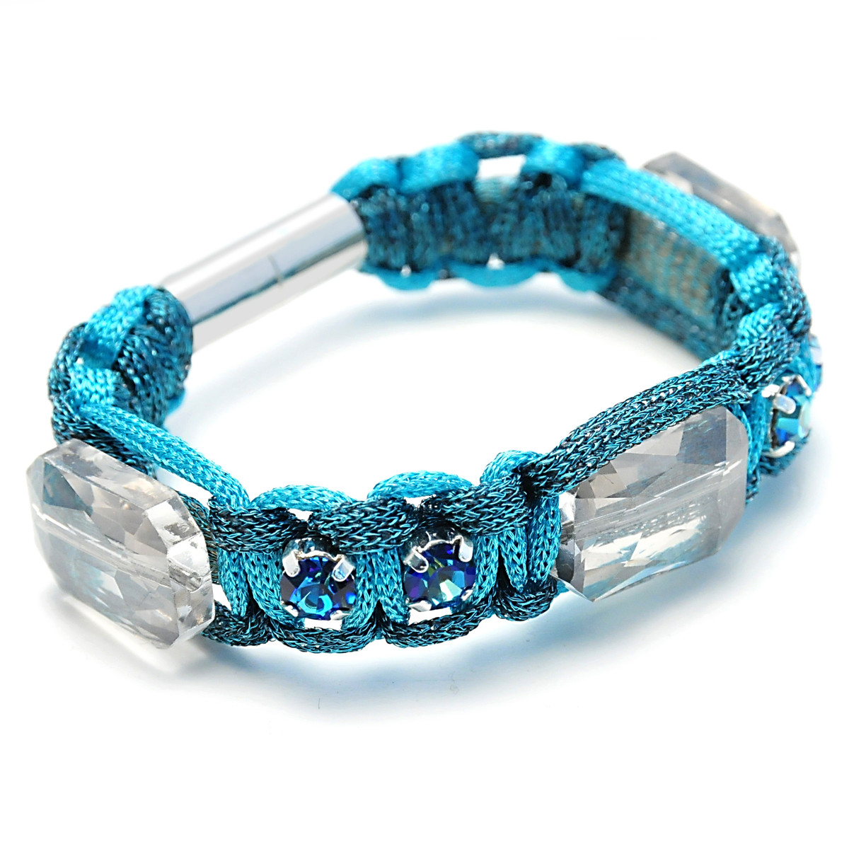 Anat Collection Blue Square Shabby Chic Bracelet