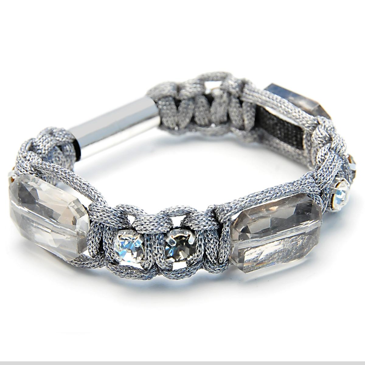 Anat Jewelry Silver Square Shabby Chic Bracelet