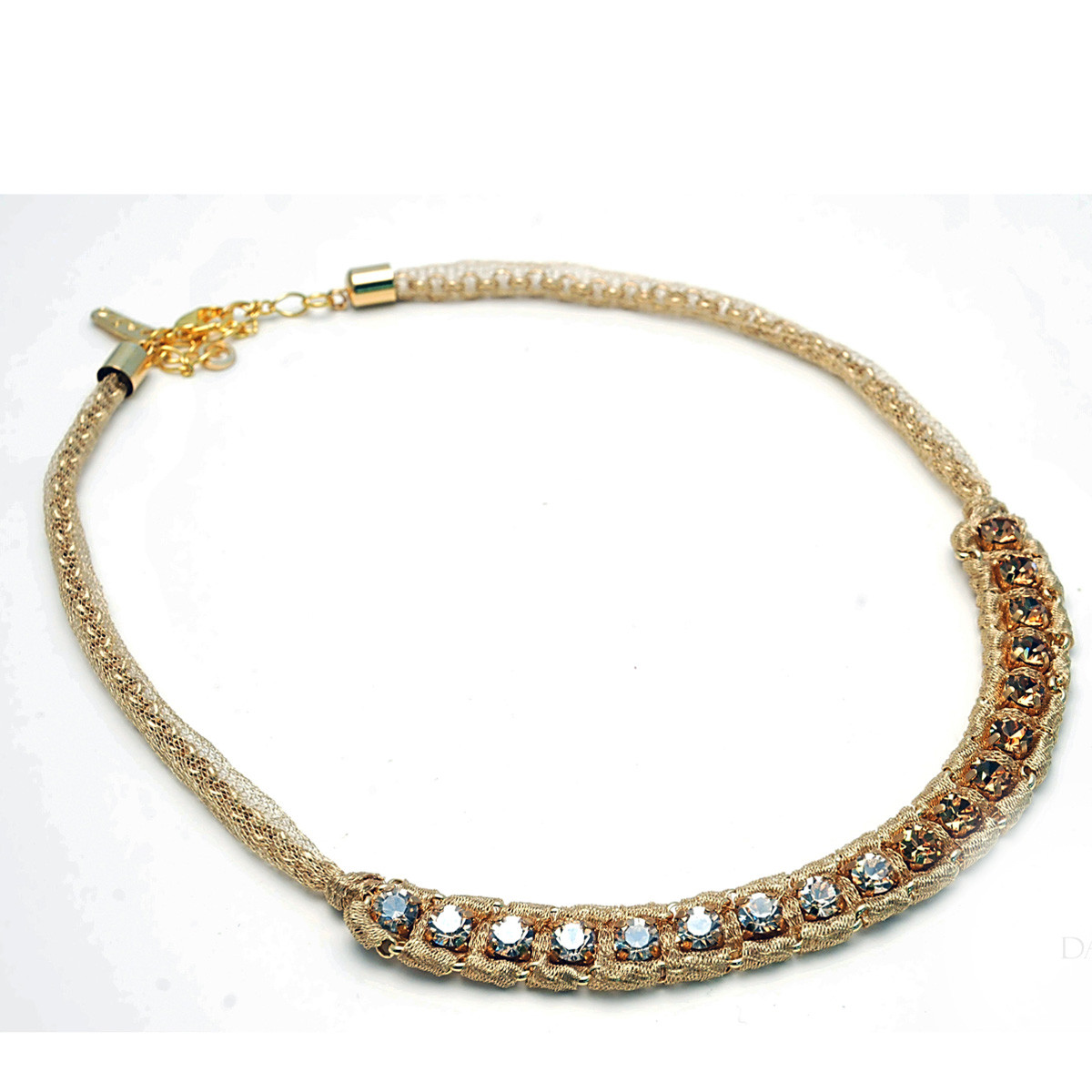 Anat Collection Gold Italian mesh Necklace