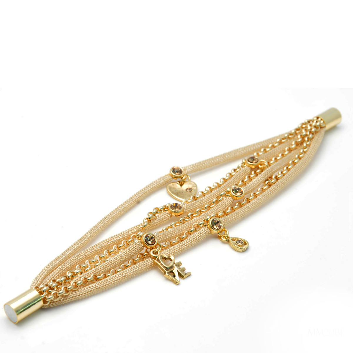 Anat Jewelry True Love Round Motion Gold Bracelet