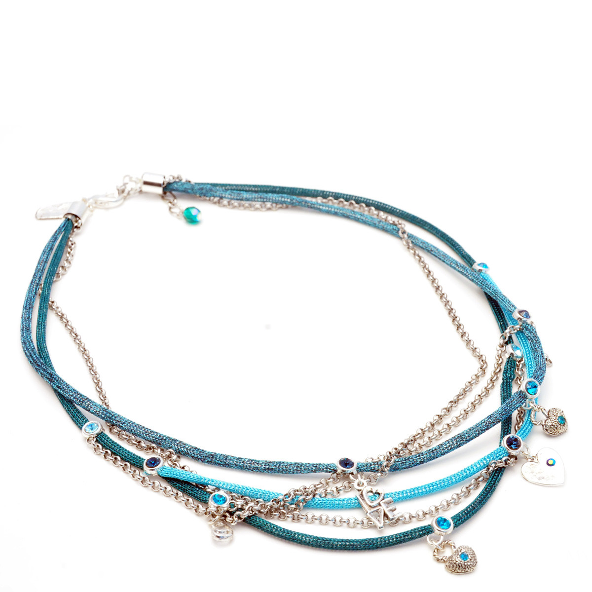 Turquoise True Love Round Motion necklace from Anat Jewelry