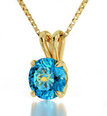 Teal Inspirational Jewelry Gold Cancer Necklace