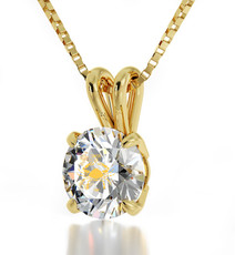 Clear Gold Cancer necklace from Inspirational Jewelry