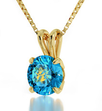 Teal Inspirational Jewelry Gold Virgo Necklace