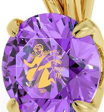 Nano Jewelry Gold Virgo Necklace