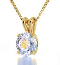 Inspirational Jewelry Necklace Gold Virgo