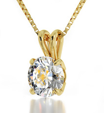 Clear Gold Scorpio necklace from Inspirational Jewelry