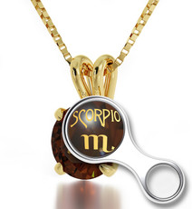 Inspirational Jewelry  Scorpio Gold Necklace