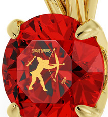 Inspirational Jewelry Necklace Gold Sagittarius