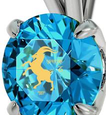 Inspirational Jewelry Silver Capricorn Necklace