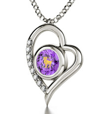 Nano Jewelry Silver Heart Aries Necklace
