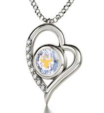 Nano Jewelry Silver Heart Taurus Necklace
