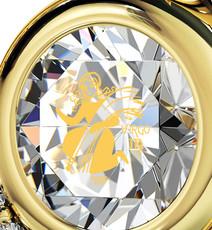 Inspirational Jewelry Necklace Gold Heart Virgo