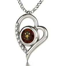 Nano Jewelry Silver Heart Scorpio Necklace