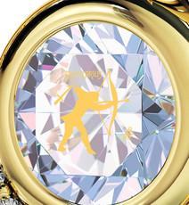 Nano Jewelry Opal Opal Gold Heart Sagittarius Necklace