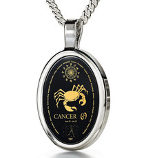 Silver Oval Cancer necklace from Inspirational Jewelry