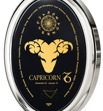 Silver Oval Capricorn necklace from Inspirational Jewelry