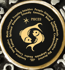 Inspirational Jewelry Pisces Zodiac Wheel Black Necklace