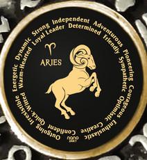 Inspirational Jewelry Aries Zodiac Wheel Black Necklace
